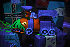 Chew Chew (KEBSD) Tags: christmas new holiday halloween train dark square toy photography orleans neon ride disneyland before disney haunted gift choo present attic chew nightmare mansion