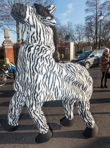 Greenwich pantomime horse (or zebra) race