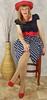 DSC03704 (msdaphnethos) Tags: red stockings girl hat tv pumps legs cd tgirl transgender polkadots redhat blonde transvestite heels hosiery rockabilly pantyhose crossdresser nylons daphnethomas