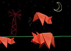 while you sleep 2 (odish3) Tags: pig origami origamiart origamipig