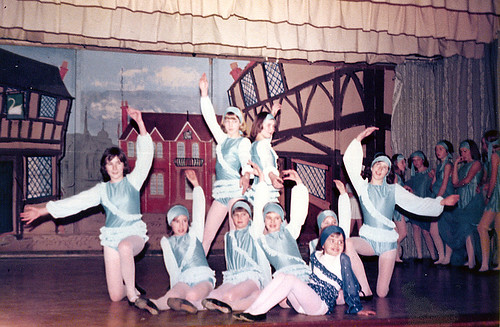 1978 Dick Whittington 09 (from left Karen Smith, poss Julie Platts, Sally Capp, Louise Kenworthy, sitting Julie Wragg, Joanne Andrews, Jane Parkin, Lisa Young)