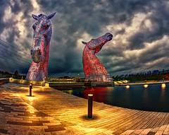 Kelpies Again (beelzebub2011) Tags: horses sculpture scotland europe hdr falkirk highdynamicresolution kelpies