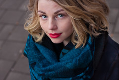 S V (Faanatar) Tags: she street winter portrait woman girl canon suomi finland 50mm photo spring turku pic gata rate bo 500d 2015 muotokuva katu valokuva tytt nainen