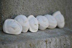 many faces (Cherryhill Studio) Tags: ceramic beads faces clay stoneware