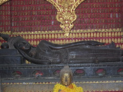 Reclining Buddha Shrine in the Red Chapel, Wat Xieng Thong