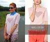 Sale: Pink Jacquard Heart Motif Sweater (LA REDOUTE)