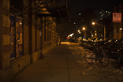 ice, snow, and bikes (jlodder) Tags: chicago illinois unitedstates us bicycles ice snow bikerack winter 2015 flickrfriday bicycle soft night