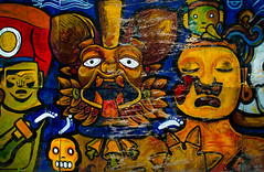 Mural Near Museo del Templo Mayor (Erik Lykins) Tags: street city travel urban streetart art tourism colors painting mexico outdoors mexicocity mural colorful downtown cityscape aztec outdoor capital sightseeing cities streetphotography ciudad nopeople tourist urbanart mexican northamerica publicart mx templo zocalo ciudaddemexico attraction mexicodf templomayor travelphotography 20mmf28 2013 traveldestination d7000 mexicocity1127