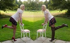 Pumps or boots? (sabine57) Tags: stockings drag tv pumps highheels boots cd skirt crossdressing blouse tgirl transgender tranny transvestite miniskirt crossdresser crossdress nylons travestie transvestism seamedstockings overkneeboots