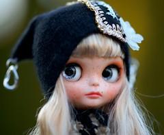 Blythe angora embroidery hat