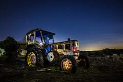 The old tractor (B.B.H.70) Tags: madrid old espaa tractor lightpainting abandoned night stars lights luces noche spain rusty estrellas nocturna viejo oxidado abandonado