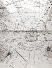 Tomas Saraceno Galaxies Forming Along Filaments, Like Droplets Along the Strands of a Spiders Web (3dtunez) Tags: venice droplets web like biennale 2009 along strands spiders tomassaracenogalaxiesformingalongfilaments