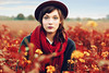 red autumn (caras.muffin) Tags: autumn light red portrait woman nature girl fashion germany pentax hut selftaught 50m
