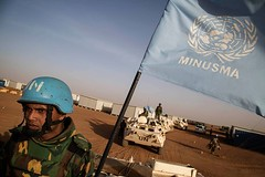 Mission des Nations Unies au Mali - MINUSMA peacekeepers from Bangladesh go on patrol in the area of Ansongo, Mali. More than 1,400 Bangladeshi peacekeepers are spread over the entire Malian territory. More in MINUSMA: http://bit.ly/1mrpKkU MINUSMA Photo (United Nations Peacekeeping) Tags: from spread 1 photo au go over des more 400 than area mission mali bangladesh patrol nations entire peacekeepers territory bangladeshi malian unies ansongo minusma httpbitly1mrpkku