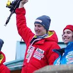 Unterberger (1) Seger (2) Greig (3) Kimberley slaloms PHOTO CREDIT: Derek Trussler