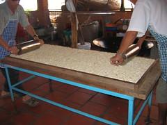 Flattening the Rice Crispy Treats