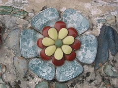 Tiled Flower Wat Pho
