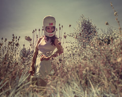 Sci-Fi Day (LukeOlsen) Tags: usa oregon portland dream nasa infrared colorinfrared colourinfrared nasahelmet lukeolsen