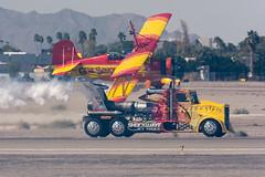 Close Race (damneardone) Tags: race airplane nikon aircraft aviation sigma airshow yuma biplane aerobatics shockwave jettruck genesoucy nikonsigma d7100 mcasyuma