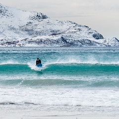 Arctic surfing (mirrormatch) Tags: vinter surfing arctic troms kvalya grtfjorden