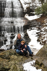 In front of the Falls, Tryon NC (babyfella2007) Tags: old winter boy portrait woman mountain snow jason man tree brick fall ice nature water face sign rock architecture facade truck vintage garden carson children outside restaurant design frozen waterfall store nc pretty gun child purple cola hiking eating antique grant military exploring south father north young mother michelle style son explore taylor button carolina sledding onion sled coca beaufort porcelain memaw pearson saluda tryon enamel ridgeland 2015 pearsons batesburg
