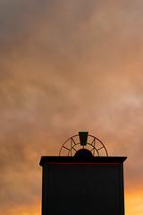 Regency (dogwelder) Tags: california clouds laurelcanyon laurelplaza neon northhollywood orange silhouette sky losangeles unitedstates us