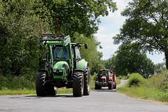 Deutz-Fahr 5120 et Massey Ferguson 6480 (Philippe-03) Tags: deutzfahr agrotron masseyferguson agriculture campagne foin
