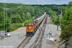 Hotshot Z9. (Machme92) Tags: railroad b sky santafe america cool track tracks rail trains iowa row bn american rails ge railfan bnsf railroads railroading atsf railfanning gevo railfans transcon trainrace burligrton