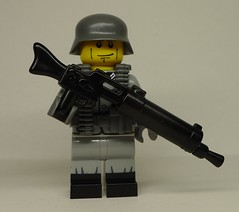 To the Somme! (BrickArms MG 08/15 prototype mod) (enigmabadger) Tags: brickarms lego custom minifig minifigure fig weapon weapons accessory accessories combat war proto prototype german mg machine gun mod modification wwi world