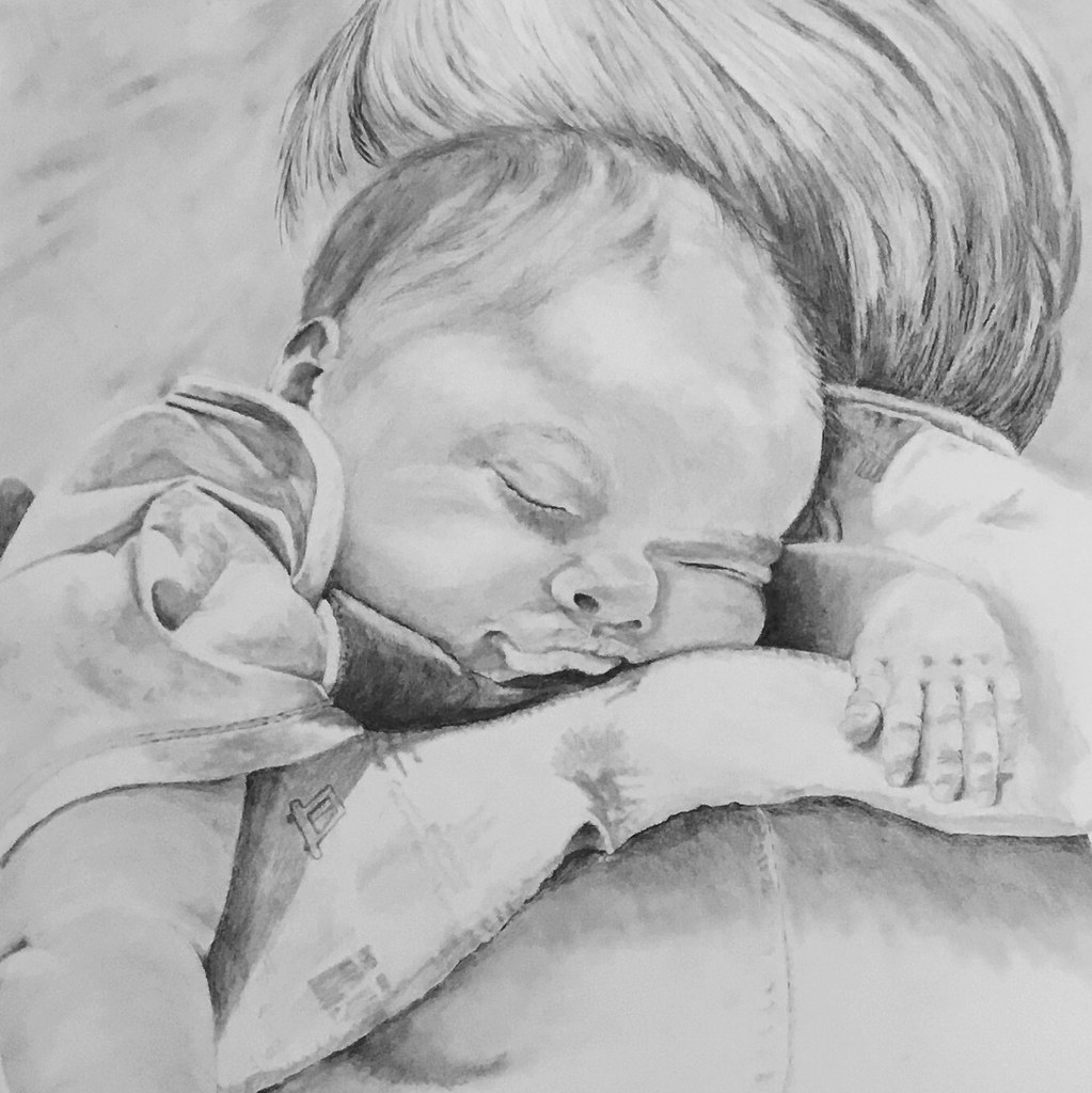 Image judy beckwith tags boy baby pencil sketch graphite