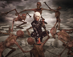 It is the end of times (Jackie XLY) Tags: zombies dark darkart horror gothic blood digitalart death