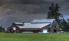 Barn (Paul Rioux) Tags: storm building weather architecture clouds barn rural bc outdoor britishcolumbia farm country scenic agriculture agricultural chilliwack fraservalley lowermainland prioux