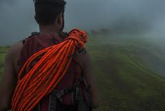 Hiking through Garbett Plateau, Maharashtra,India (E R) Tags: travel india lake clouds trekking hiking hills monsoon maharashtra ropes westernghats sahyadri travelindia indiatravel climbingropes incredibleindia sahyadrihills deccanplateau maharashtratourism