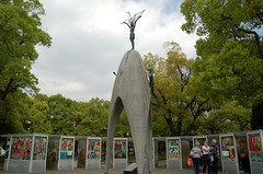Children's Peace Monument, Hiroshima Peace Park (luckypenguin) Tags: japan hiroshima atomicbomb nuclearbomb peace memorial park