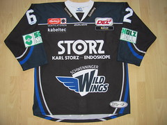 SERC Schwenninger Wild Wings 2015 - 2016 alteranate Game Worn Jersey (kirusgamewornjerseys) Tags: wild game ice hockey wings worn jersey philipp eishockey schlager serc schwenninger