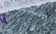 Kite to Kite - Above Waddell Beach CA (Wind Watcher) Tags: windwatcher kap kite levitation light ds delta waddel beach california kapica2016 surfing water