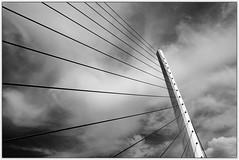 Athens / Athen (drasphotography) Tags: athens athen architecture architektur monochrome monochromatic monotone greece griechenland looking up blackandwhite bw bn sw graphic bridge brcke abstract abstrakt drasphotography nikond7000 nikon d7k