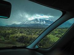 Kuna Crest From Route 395 (Serendigity) Tags: california usa desert sierranevada car mountains windscreen unitedstates rain weather iphone4s apple