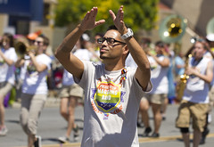 Feel the music (San Diego Shooter) Tags: gay pride sandiegopride gaypride sandiegopride2016 sandiego portrait gayprideparade streetphotography