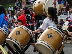 Drumming (prima seadiva) Tags: seattle summer people festival dance buddhist yukata kimono taiko drumming obon internationaldistrict happi centraldistrict bonodori 2016 shinran