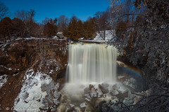 One April Morning at Webster's (awaketoadream) Tags: ontario canada sky winter rainbow cold blue white snow long waterfall falls ice exposure area april hamilton like webster gorge spencer websters widerness greensville unseasonal niagara escarpment