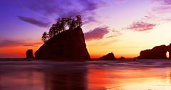 Second Beach at Sunset (La Push, Olympic Peninsula, WA) (Sveta Imnadze.) Tags: nature landscape seascape secondbeach lapush wa olympicpeninsula sunset pacificnorthwestclouds sunsetcolors wow
