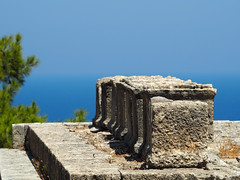 Peribolos of the Altars (stckrboy) Tags: greece rhodes rhodos kamiros ruins ancient altar altars helios athena deity ancientgreece ruin excavation history mythology stone sea view summer horizon peribolos