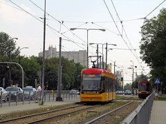 """Pesa 134N """"Jazz"""", #3810, Tramwaje Warszawskie (transport131) Tags: tram tramwaj pesa tw ztm warszawa warsaw 134n jazz"""