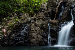 Tiff at 3rd Tavoro Falls (Ken Eaton) Tags: fiji hike tavorofalls waterfall