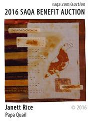 Papa Quail by Janett Rice (saqaart) Tags: artquilts saqa fiberart quilts textiles artwork stitched layered