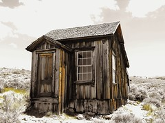 weathered...(HWW) (BillsExplorations) Tags: weathered worn woodgrain door window bodie california ghosttown abandoned decay forgotten vintage historical nationalregisterofhistoricplaces statepark mining cabin house selectivecolor windowwednesday hww