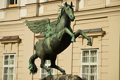 Pegasus statue fountain (fletcherd5) Tags: wingedhorse wings mirabell mirabellgardens pegasusfountain fountain statue austria pegasus horses horse salzburg