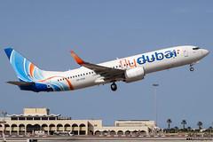 Fly Dubai --- Boeing 737-800 --- A6-FEB (Drinu C) Tags: adrianciliaphotography sony dsc hx100v mla lmml plane aircraft aviation fly dubai boeing 737800 a6feb 737
