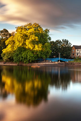 The Blue Bridge (matrobinsonphoto) Tags: york north yorkshire river ouse foss bridge blue water reflection reflections long exposure ten 10 stop nd neutral density filter big stopper landscape city town cloud sunset golden hour motion blur sunlight sun light evening summer wind